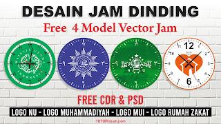 Desain Jam Dinding Custom Logo PSD