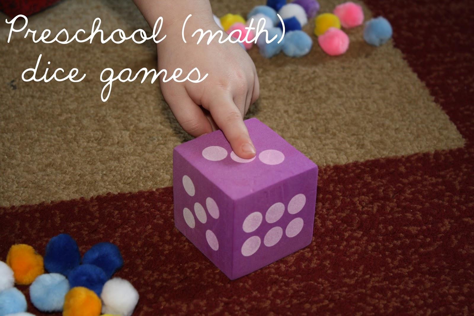 Love My Lists Preschool Dice Math Games