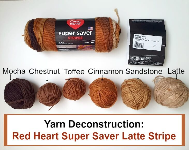 Deconstructing Red Heart Super Saver Latte Stripe