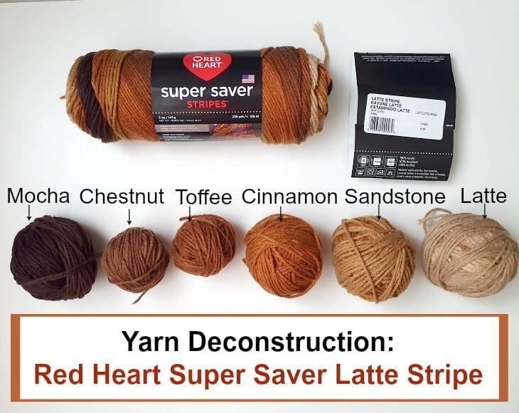 Deconstructing Red Heart Super Saver Latte Stripe