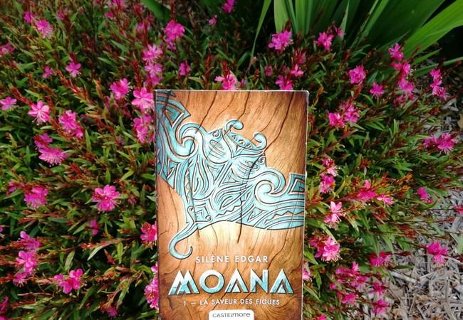 Roman Moana sur parterre de fleurs roses et violettes.