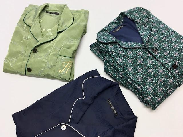 mens luxury pajamas silk cotton bespoke tailored pyjamas gentleman pajama set