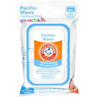 منادل التنظيف للاطفال   Munchkin, Arm & Hammer, Pacifier Wipes, 36 Wipes, 4 in x 6