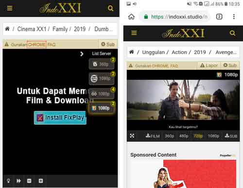cara instal ekstensi chrome fixplay desktop di android