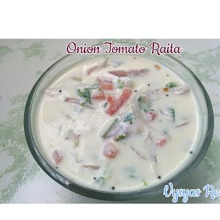 Onion Tomato Raita - Tomato Onion Raita