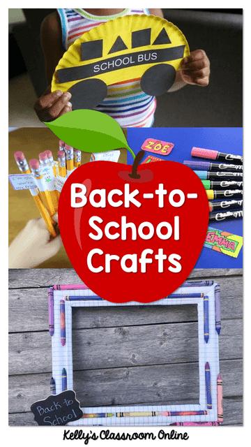 A round up of 10 children's back-to-school crafts. Apples, pencils, school buses, photo props. Preschool, kindergarten, first grade, second grade.