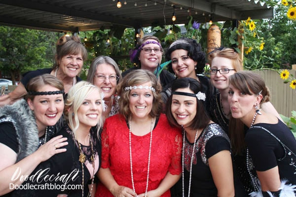 Downton Abbey Inspired 1920's Flapper Garden Party Girls Night and all the details on how to host your own!