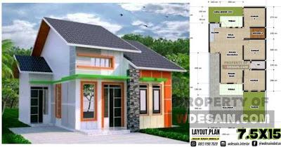 Denah Rumah 3 Kamar Tidur 1 Mushola Dan Garasi Desain Rumah Minimalis