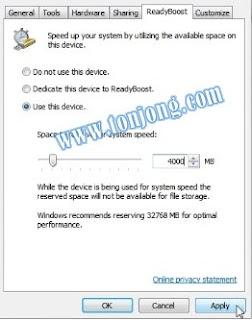 Trik Menambah RAM dengan Flashdisk