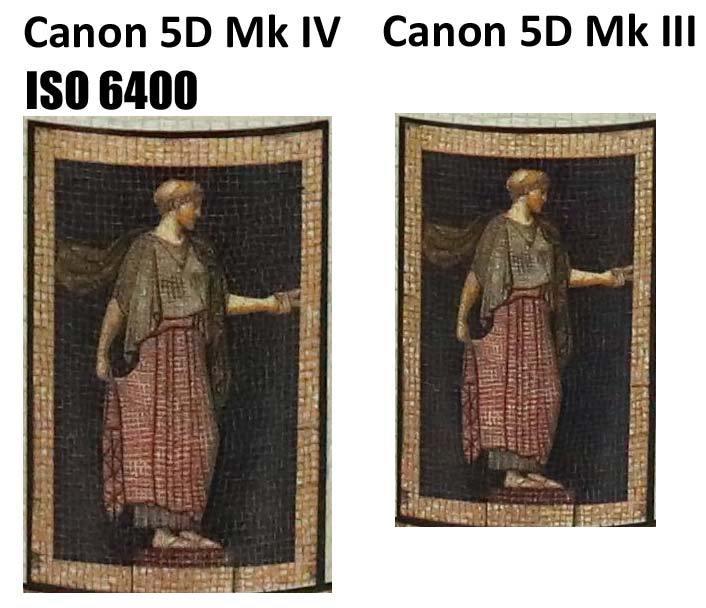 Сравнение Canon 5D Mark IV и 5D Mark III при чувствительности ISO 6400