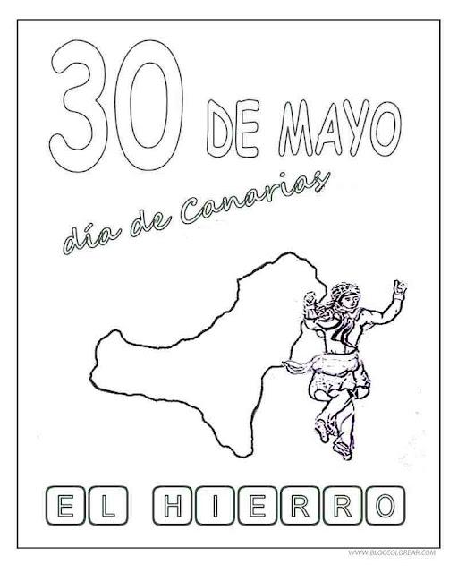 Día De Canarias Dibujos Para Colorear De Las Islas