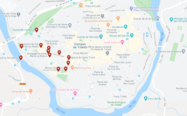 barrio judío de Toledo mapa