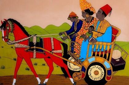 Tableau sous verre : un art typiquement sénégalais : Art, tableau, sous, verre, peinture, vitre, motif, scène, artiste, LEUKSENEGAL, Dakar, Sénégal, Afrique