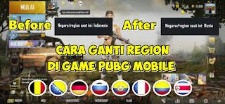 Cara Mengganti Region/Negara Di PUBG Mobile