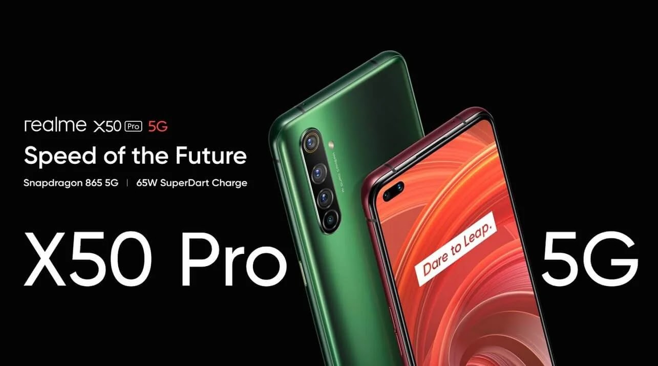 Realme X50 Pro 5G with SD865, 12GB RAM, 65W Flash Charge and 6 Cameras Launched Globally