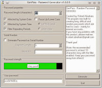GenPass program window