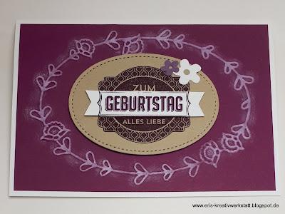 Geburtstagskarten mit geprägtem Rand Stampin' Up! www.eris-kreativwerkstatt.blogspot.de