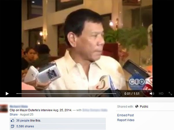 Duterte talks about death penalty, summary executions in Davao