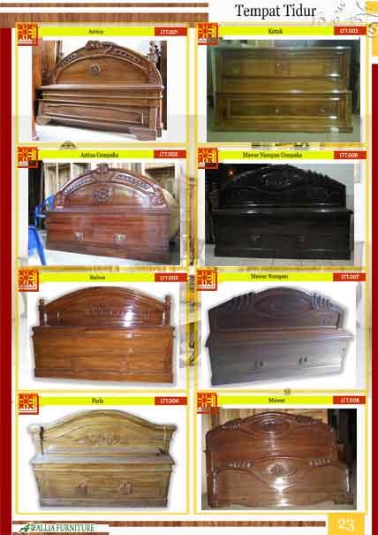 Tempat tidur klender kayu jati 1