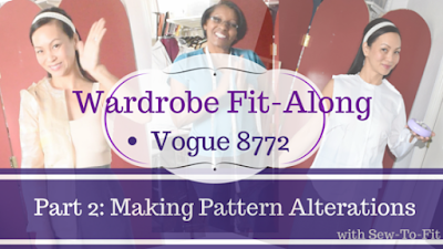 Vogue 8772: Part 2- Making Pattern Alterations