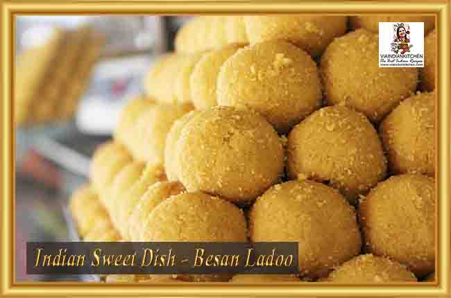 Indian Sweet Dishes - Besan Ladoo