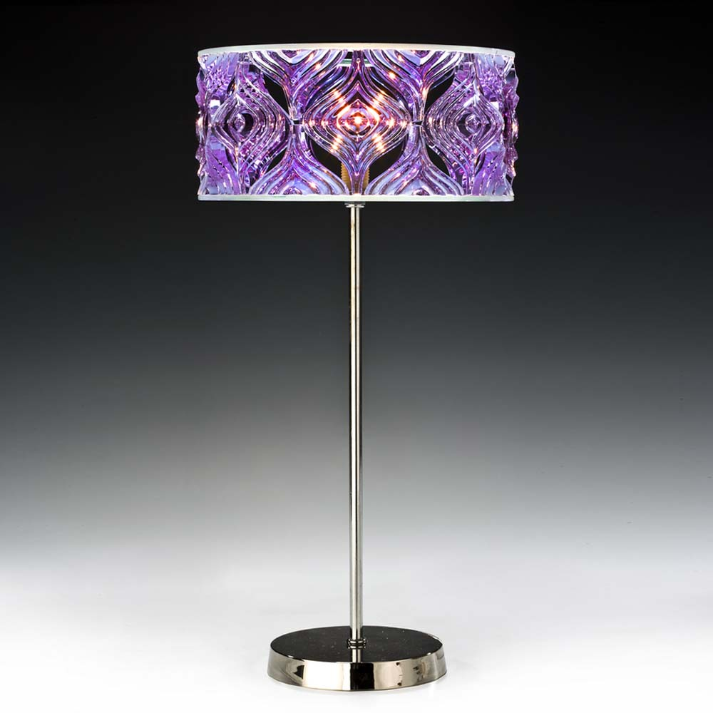 tischleuchten aus glas und kristall designer tischleuchte aus glas twiggy lilac. Black Bedroom Furniture Sets. Home Design Ideas
