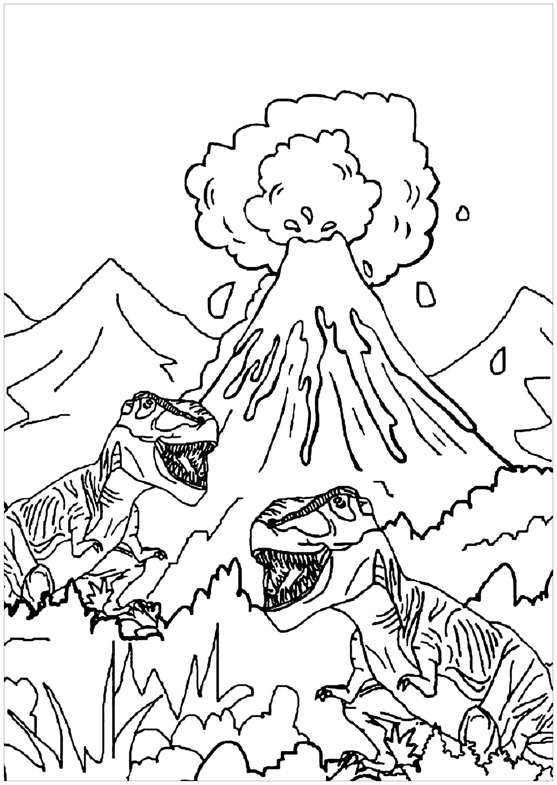 Dinosaurs coloring pages 54