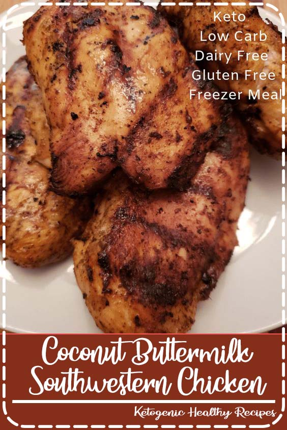 Coconut Buttermilk Southwestern Chicken is a Gluten Free Coconut Buttermilk Southwestern Chicken