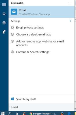 Membuka aplikasi Email