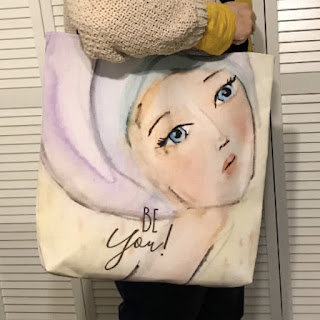 Pastel Girl Tote Bag
