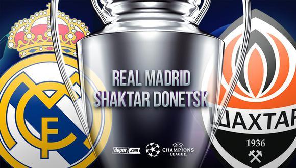 Real Madrid vs. Shakhtar EN VIVO: canales de TV y transmisión por la Champions League