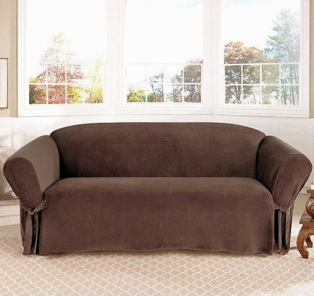 Legacy Brown Color Curved Sectional Sofa Covers