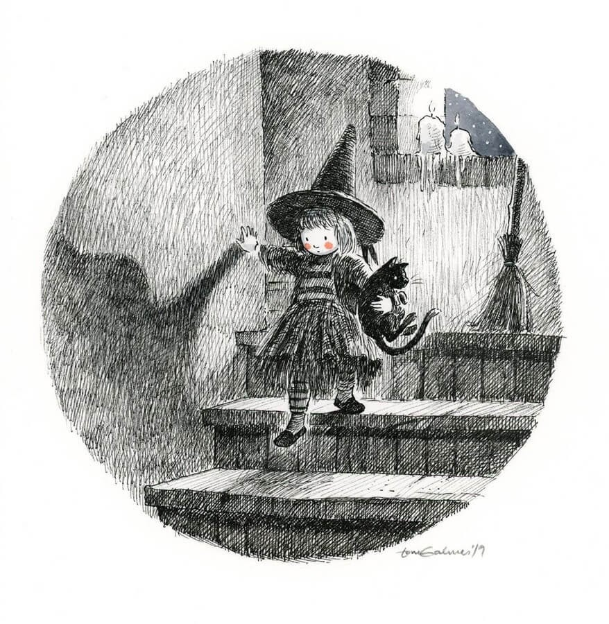 10-Witch-and-black-cat-Toni-Galmés-www-designstack-co
