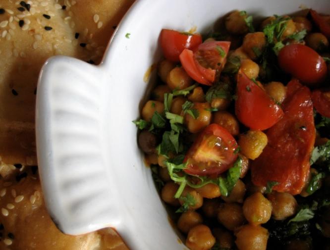 Tunisian Harissa Chickpea Vegetarian Recipe