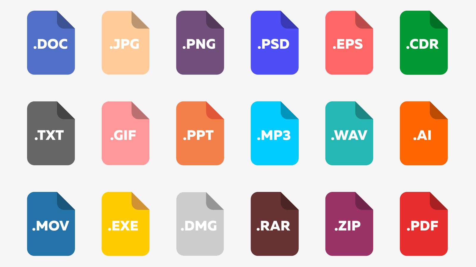 The files: types, extensions and programs to use