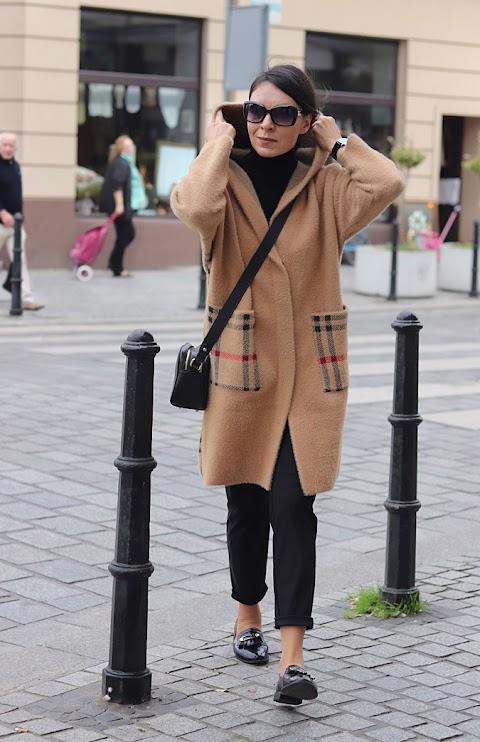 Kardiganowy płaszcz