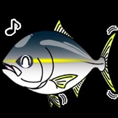Yellowtail fishing sticker