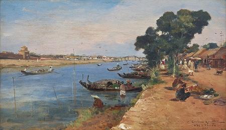 Ngắm bộ ảnh phong cảnh miền quê Việt Nam đầy mê hoặc trong tranh của họa sỹ Pháp