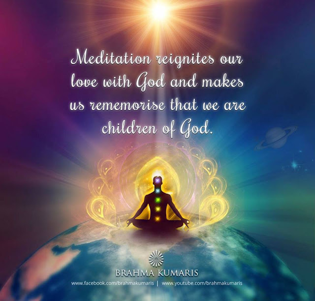 Rajyoga Meditation is the way for receiving those pure vibrations from God