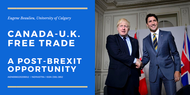 Canada-U.K. Free Trade: A post-Brexit Opportunity|  Cover Image Attribute: Canadian Prime Minister Justin Trudeau meets with U.K. Prime Minister Boris Johnson during the G7 Summit in Biarritz, France, in August 2019. Can the U.K. and Canada forge a post-Brexit trade deal? THE CANADIAN PRESS/Sean Kilpatrick