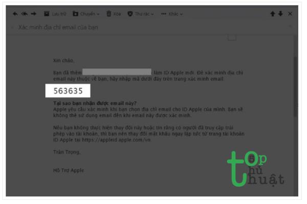 Mật mã mới để hoàn tất quá trình được gửi tới email.