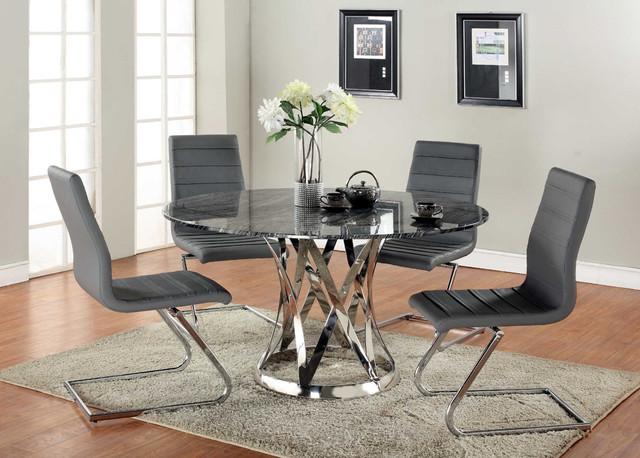 Black glass dining room sets