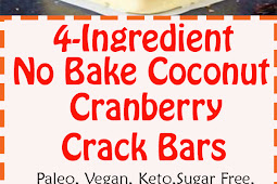 PALEO VEGAN COCONUT CRANBERRY CRACK BARS