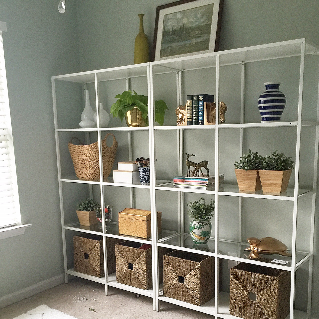 ikea vittsjo shelving project 1 room 30 days week one live pretty on a penny. Black Bedroom Furniture Sets. Home Design Ideas