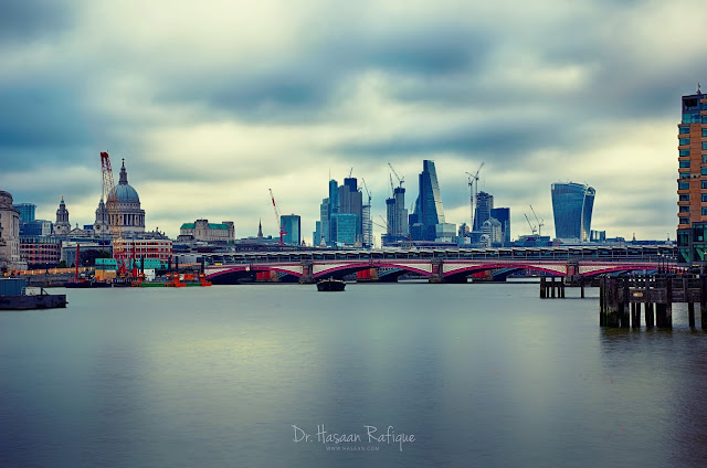 Photo: London skyline showing several iconic landmarks