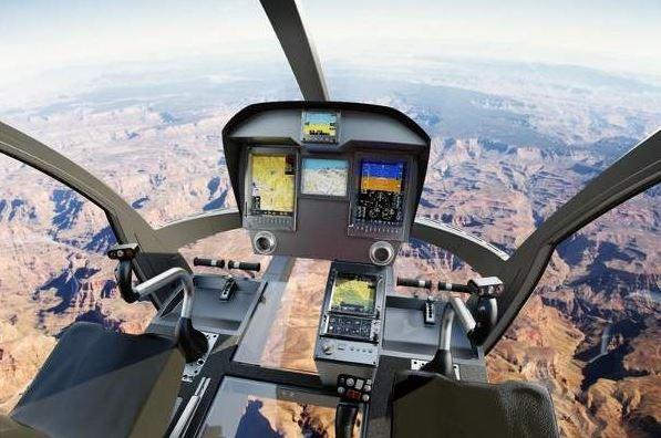 Swisshelicopter SKYe SH09 cockpit