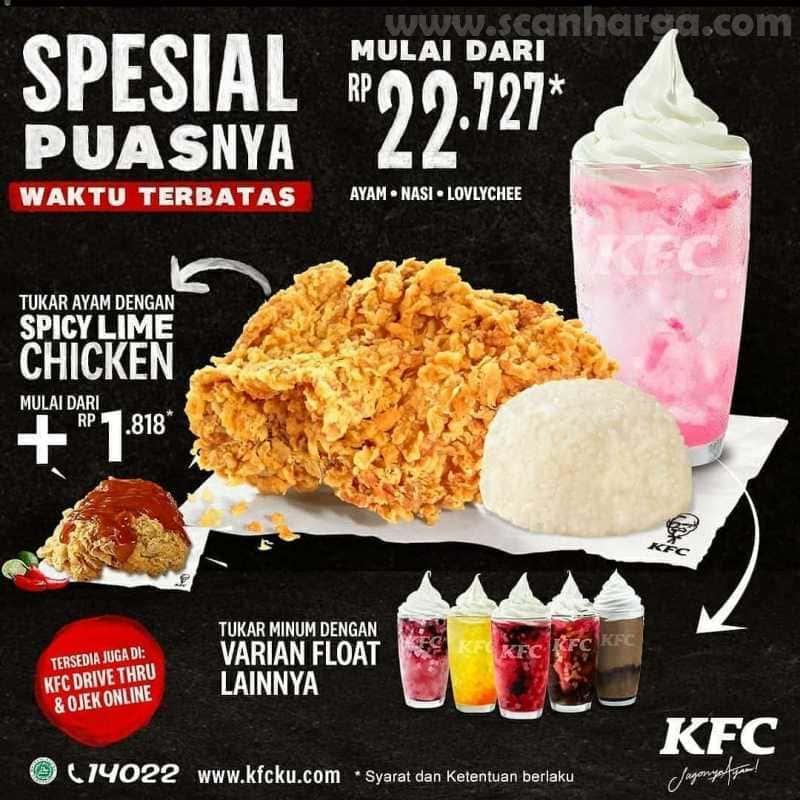 Promo KFC Hari Senin Sampai Kamis Spesial Puasnya Periode 1 - 31 Juli 2020