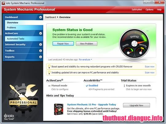 Download System Mechanic Pro 18.0.1.391 - Phần mềm tối ưu hóa máy tính