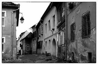 Segesvári utcakép