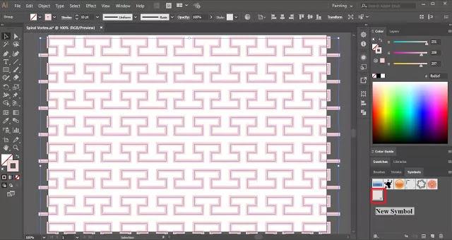 Spiral Vortex in Adobe Illustrator